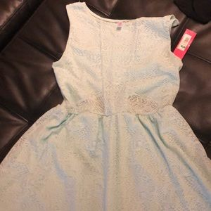 Xhilaration Aqua Lace Skater Dress